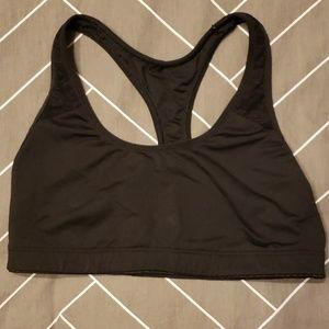 Pink Yoga XS Black Sports Bra with Lace Detail